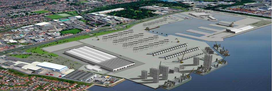Hull windfarm blade facility nears completion