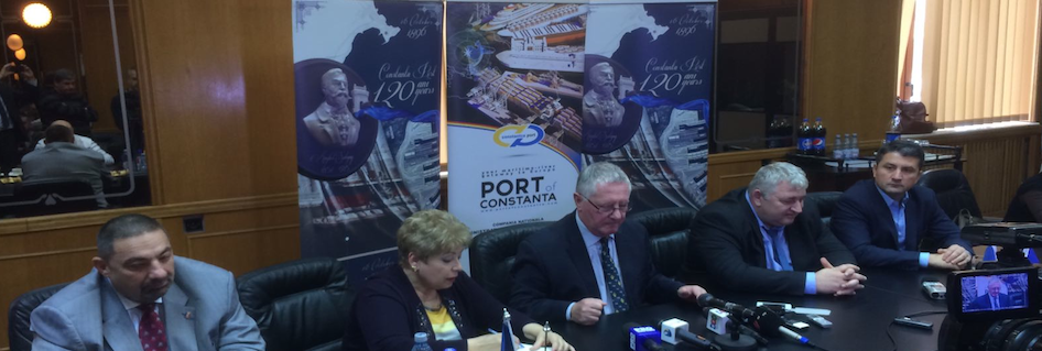 Visit of MoS Coordinator Brian Simpson OBE to Port of Constanta