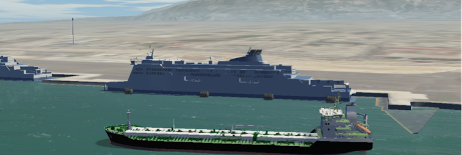 Simulating LNG operations in Poseidon Med II ports