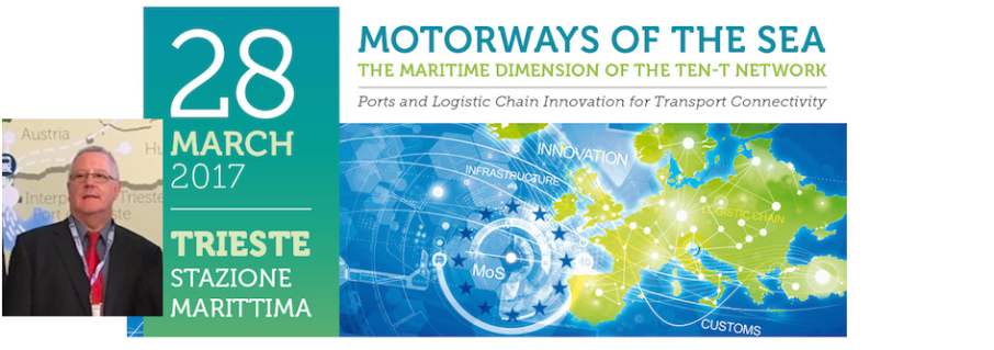 """Mr Brian Simpson OBE @ """"Motorways of the Sea – The Maritime Dimension of the TEN-T Network"""" in Trieste"""