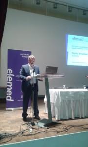 Mayor of Killini-Andravida Mr Nabil Morad during his welcome speech at Elemed event, Killini
