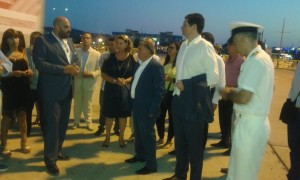 Tour at Killini Port, where the pilot cold-ironing infrastructure will be installed Killini