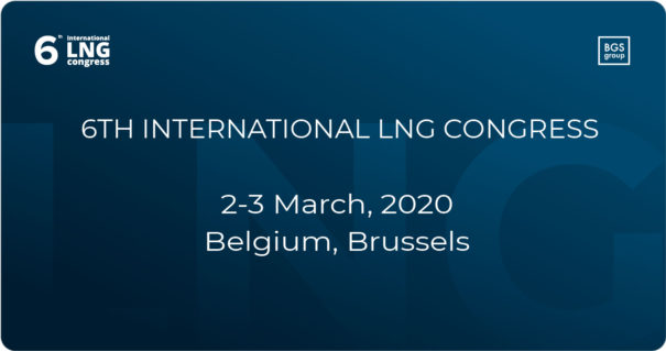6th International LNG Congress, 2-3 March 2020, Brussels