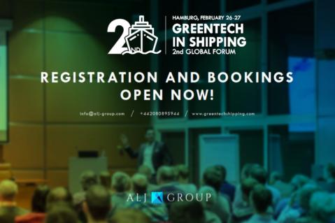 2nd GREENTECH IN SHIPPING GLOBAL FORUM - HAMBURG, FEBRUARY 25-26, 2020