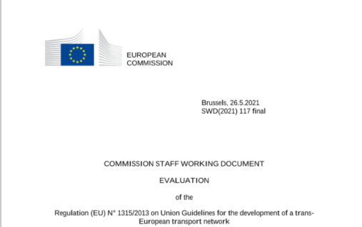 Evaluation of the Regulation (EU) N° 1315/2013 on Union Guidelines for the development of a trans-European transport network